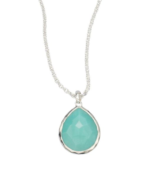 Ippolita - Metallic Rock Candy Turquoise & Sterling Silver Mini Teadrop Pendant Necklace - Lyst