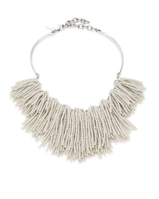Lele Sadoughi - Natural Weeping Willow Beaded Strands Necklace - Lyst