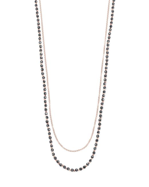 Astley Clarke - Metallic Biography Hematite & White Sapphire Sun Beaded Necklace - Lyst