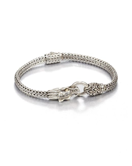 John Hardy - Metallic Naga 18k Yellow Gold & Sterling Silver Dragon Bracelet - Lyst