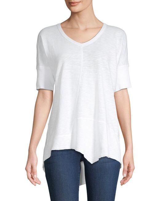 Wilt - White Asymmetric Cotton Tee - Lyst