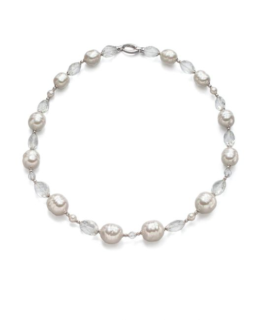Majorica | 14mm And 16mm White And Champagne Baroque Pearl Strand Necklace/18 | Lyst