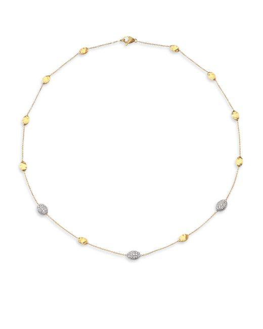 Marco Bicego - Metallic Siviglia Diamond & 18k Yellow Gold Station Necklace - Lyst