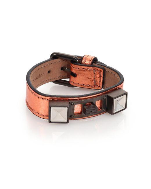 Proenza Schouler | Pink Ps11 Metallic Leather Bracelet | Lyst