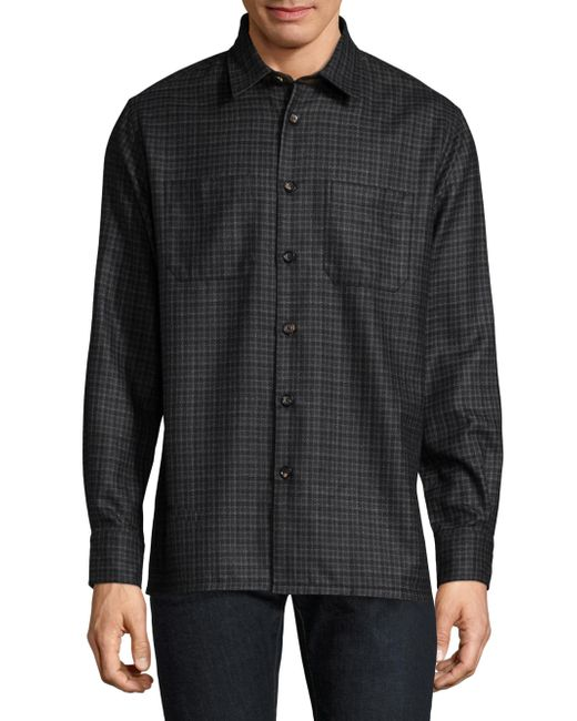 Lyst Luciano Barbera Stitch Silk Wool Button Down