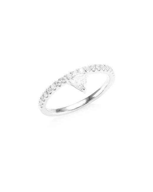 Anita Ko - Metallic Women's Diamond White Gold Triangle Ring - White Gold - Lyst