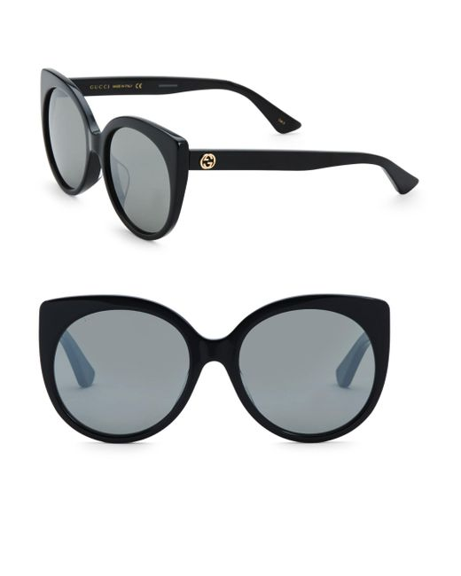 Gucci - Black Urban 57mm Cat Eye Sunglasses - Lyst