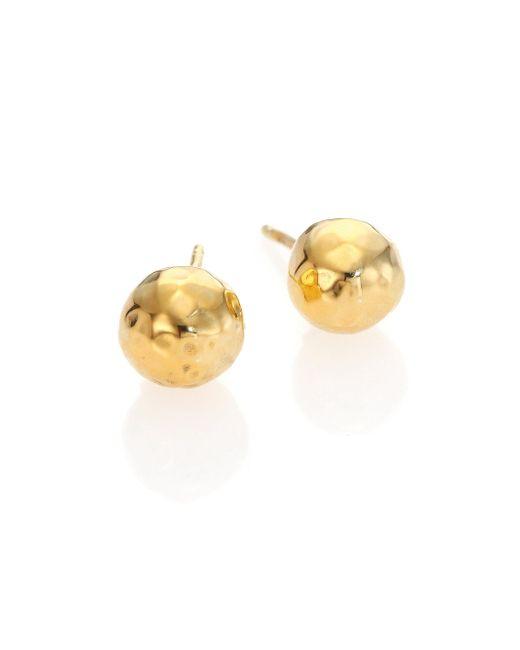 Ippolita - Metallic Glamazon 18k Yellow Gold Stud Earrings - Lyst