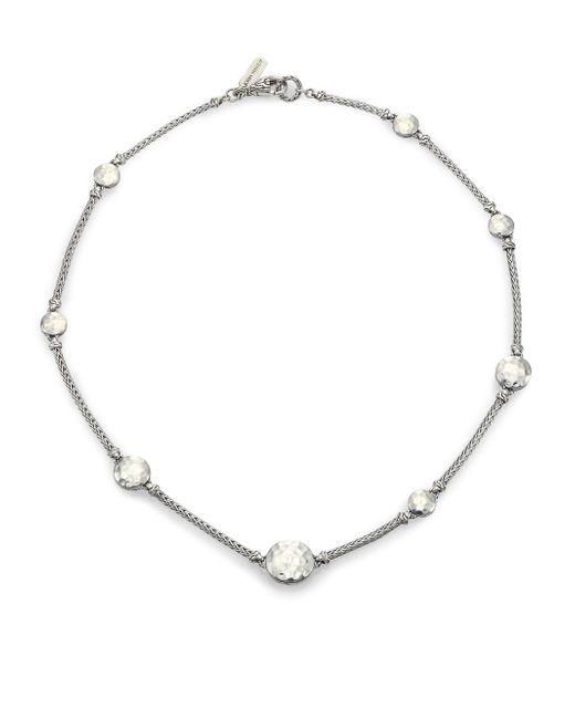 John Hardy - Metallic Palu Sterling Silver Sautoir Station Necklace/18 - Lyst
