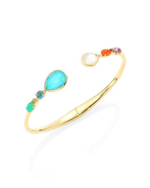 Ippolita - Multicolor 18k Rock Candy Semi-precious Multi-stone Bangle - Lyst