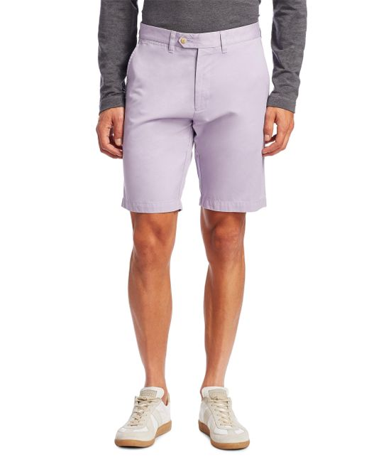Saks Fifth Avenue | Purple Collection Flat Front Shorts for Men | Lyst
