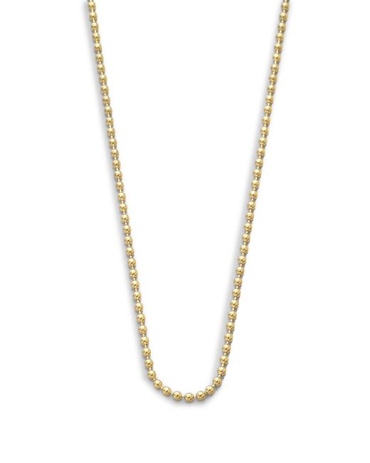 "Temple St. Clair | Metallic 18k Yellow Gold Ball Necklace Chain/16""-18 