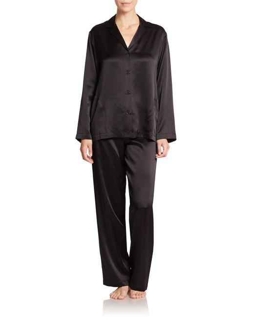 La Perla | Black Silk Pajamas | Lyst