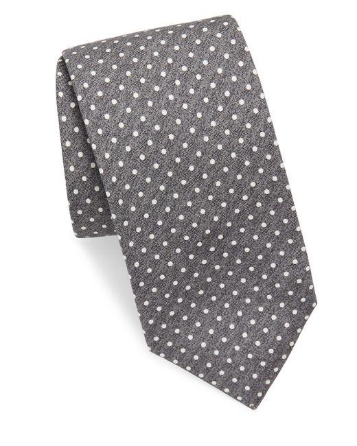 Mens Mini-Medallion Wool-Silk Necktie Isaia bYN40