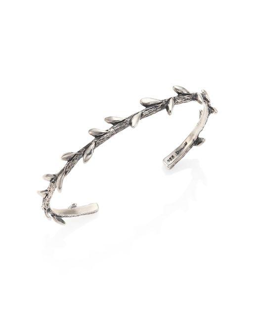 Chan Luu - Metallic Sterling Silver Leaf Cuff Bracelet - Lyst
