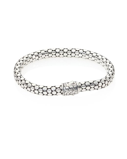 John Hardy | Metallic Dot Sterling Silver Small Chain Bracelet | Lyst
