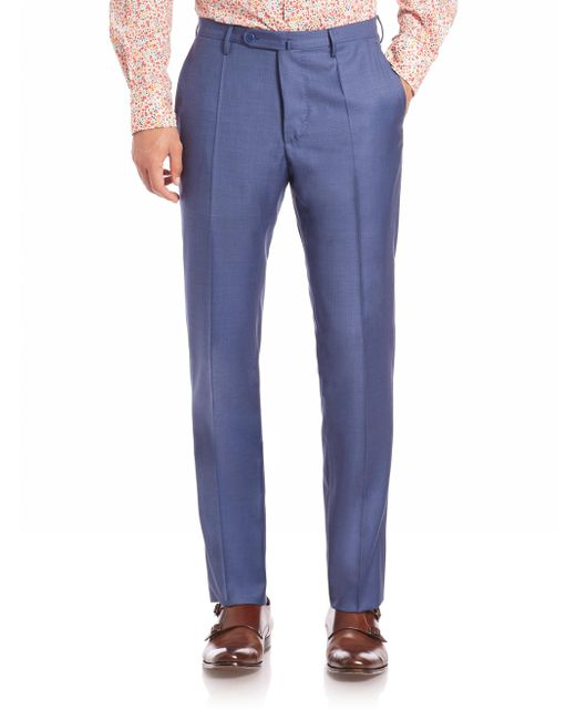 Incotex - Blue Benson Sharkskin Dress Pants for Men - Lyst