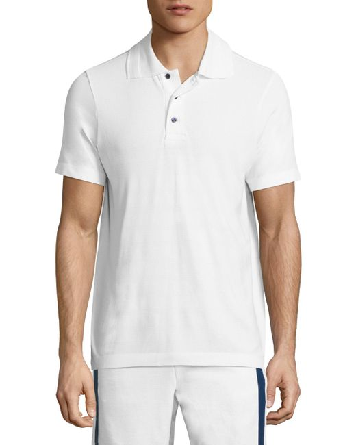Vilebrequin | White Active Belrose Intarsia Striped Heathered Polo for Men | Lyst