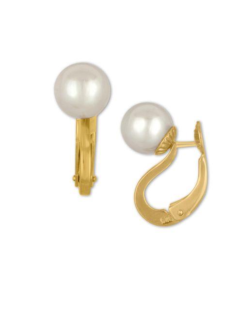 Majorica | Metallic Faux-pearl Leverback Earrings | Lyst