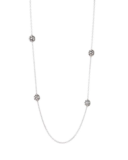 John Hardy - Metallic Dot Sterling Silver Station Necklace - Lyst