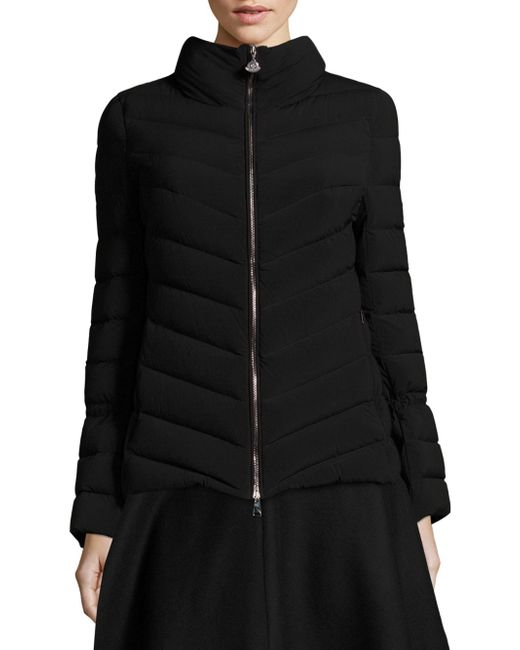 Moncler | Black Solanum Quilted Jacket | Lyst
