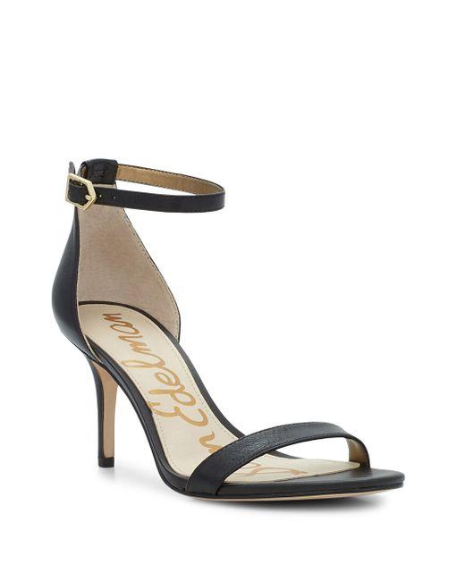 Sam Edelman - Black Patti Leather Sandals - Lyst