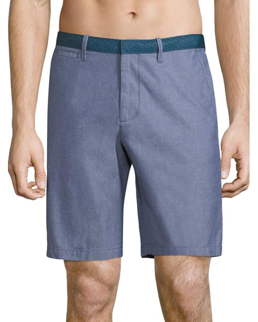 Original Penguin | Blue Solid Cotton Shorts for Men | Lyst
