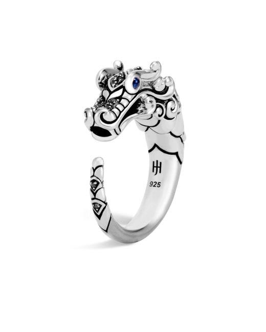 John Hardy - Metallic Legends Naga Sapphire & Black Spinel Dragon Ring - Lyst