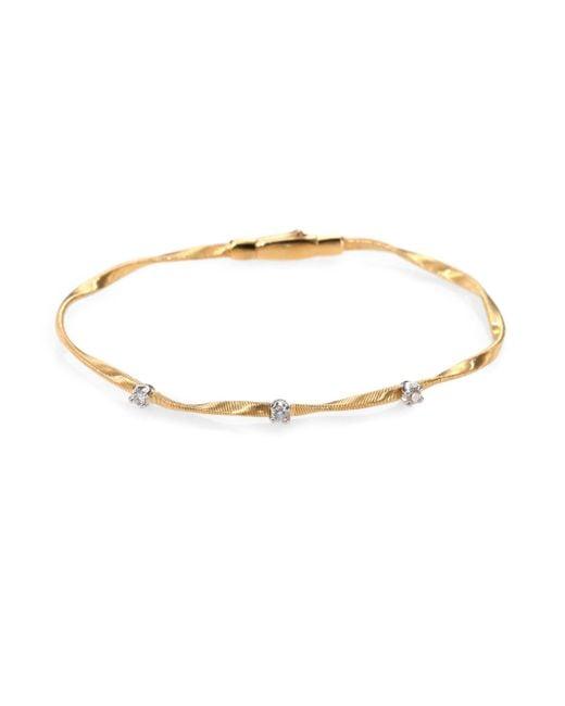 Marco Bicego | Metallic Marrakech Diamond & 18k Yellow Gold Bracelet | Lyst