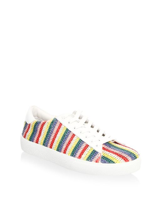 Alice + Olivia - Multicolor Cassidy Rainbow Leather Sneakers - Lyst
