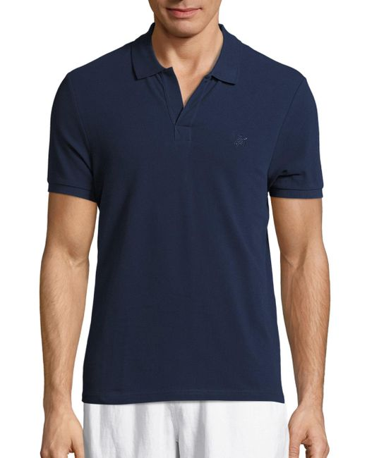Vilebrequin | Blue Solid Pique Polo for Men | Lyst