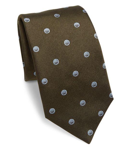 Saks Fifth Avenue | Green Sphere Dot Silk Tie for Men | Lyst