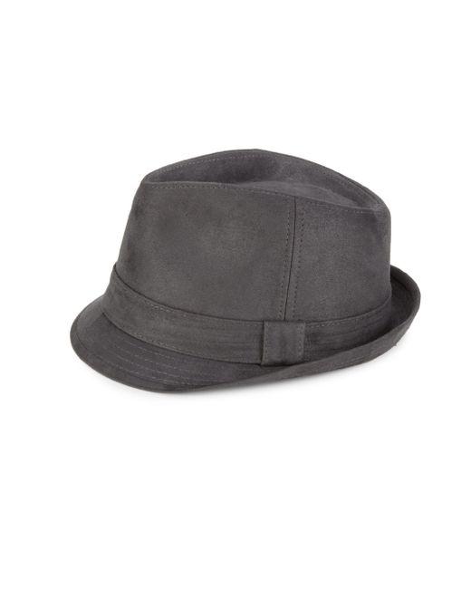Block Headwear - Gray Ultra Suede Fedora for Men - Lyst