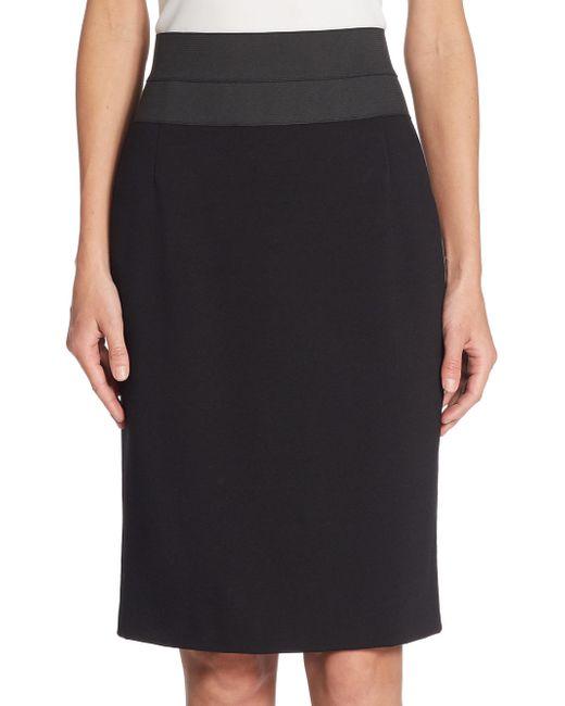 Akris Punto - Black Elements High-waist Pencil Skirt - Lyst
