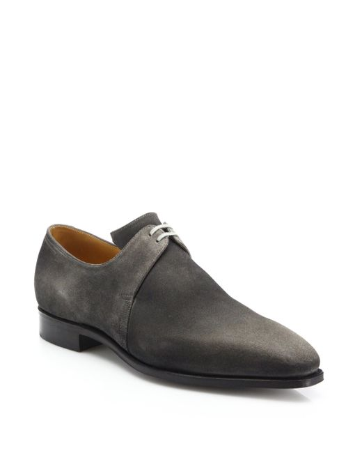 Corthay | Gray Suede Derby Shoes for Men | Lyst