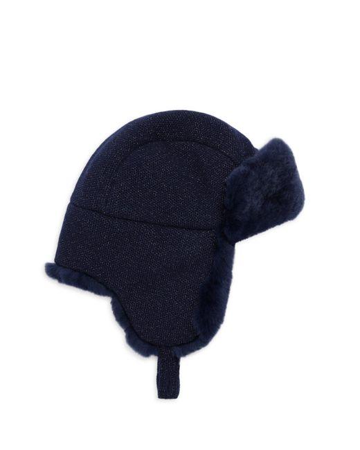 Inverni - Blue Matilde Fur Lined Trapper Hat - Lyst