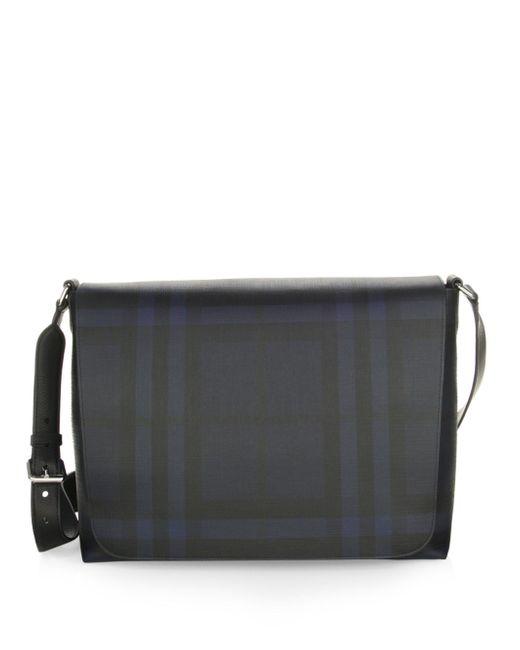 Burberry - Blue London Check Messenger Bag - Lyst