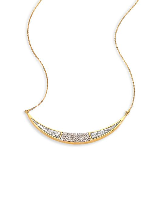 Shana Gulati - Metallic Diamond & 18k Yellow Gold Ozar Necklace - Lyst