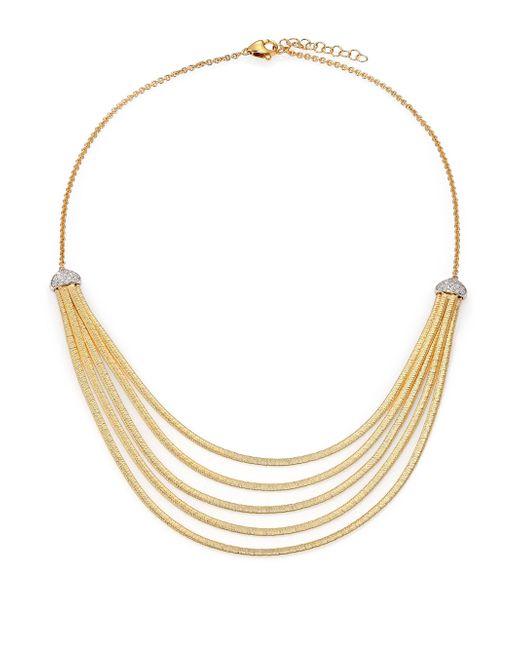 Marco Bicego - Metallic Cairo Diamond & 18k Yellow Gold Five-row Bib Necklace - Lyst