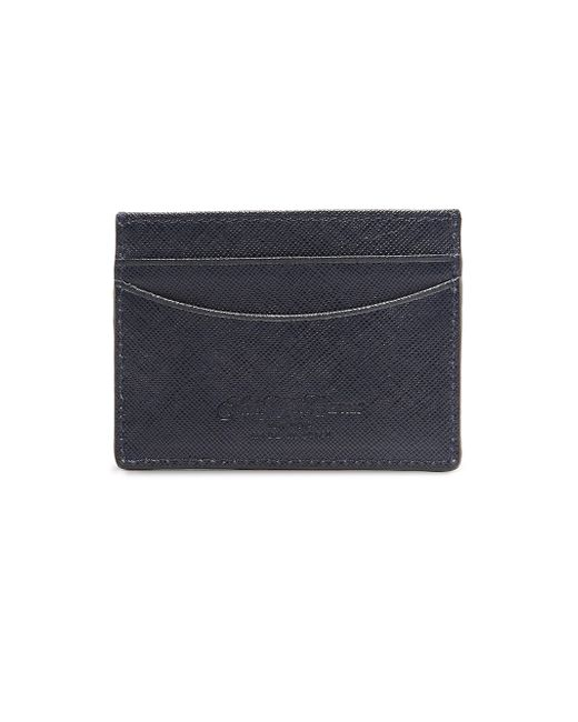 Saks Fifth Avenue | Blue Leather Card Case for Men | Lyst