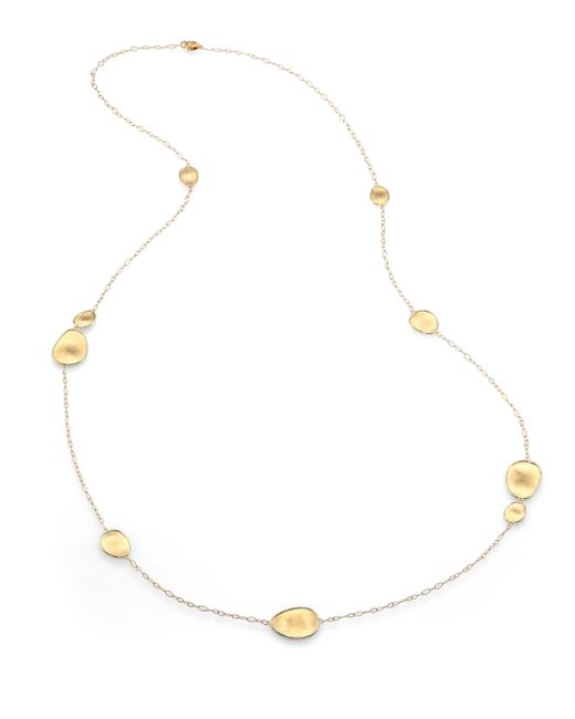 Marco Bicego - Metallic Lunaria 18k Yellow Gold Small Station Necklace - Lyst