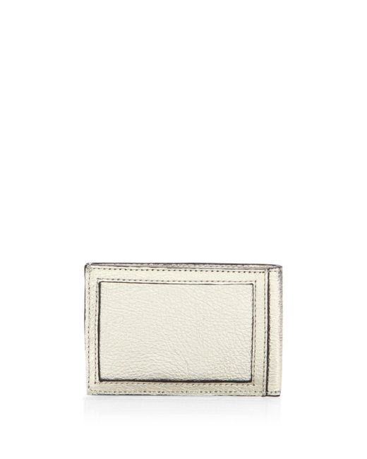 Rebecca Minkoff - Metallic Leather Metro Card Case - Lyst
