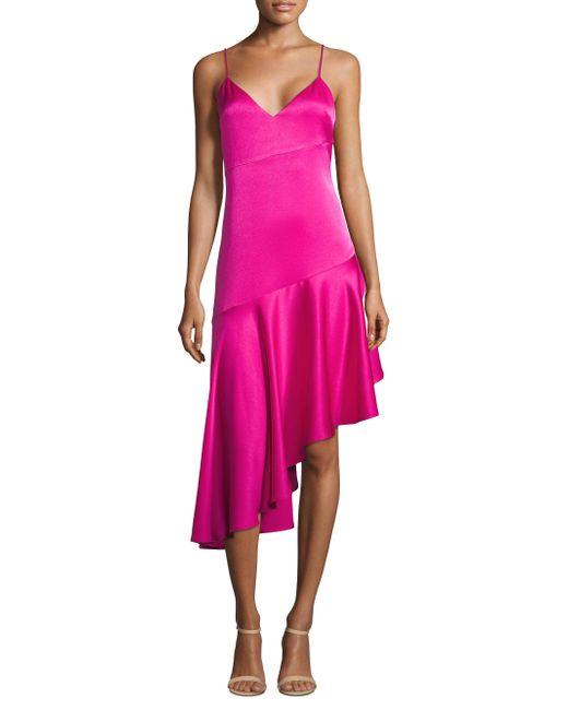 Misha Collection - Pink Madelyn V-neck Dress - Lyst
