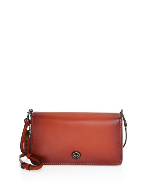 COACH - Brown Dinky Leather Crossbody Bag - Lyst