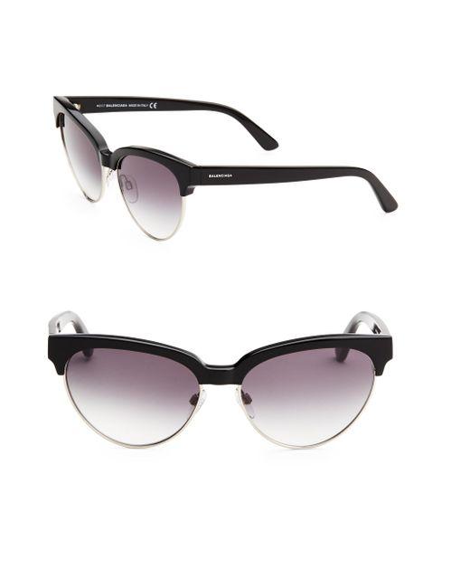Balenciaga - Black 55mm Cat Eye Sunglasses - Lyst