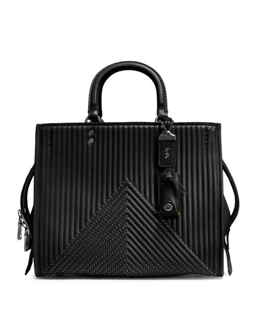 COACH - Black Quilted Leather Handbag - Lyst