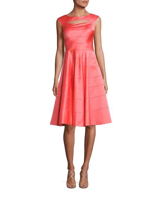 Kay Unger | Blue Paneled A-line Dress | Lyst