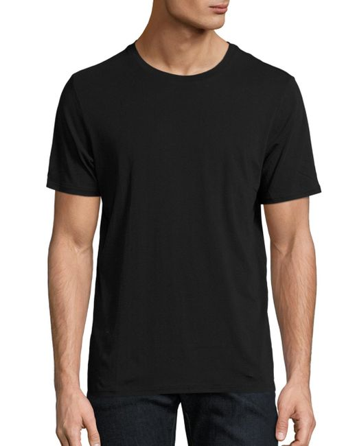 The Kooples | Black Cotton Crewneck Tee for Men | Lyst