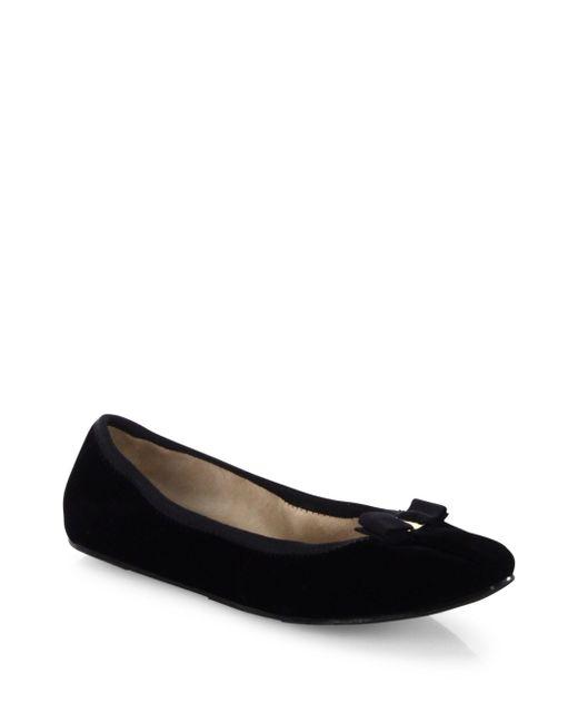 Ferragamo   Black My Joy Velvet Ballet Flats   Lyst