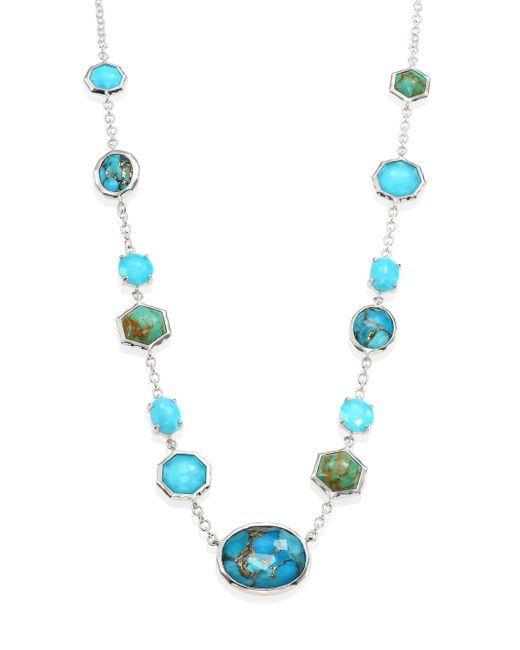 Ippolita - Blue 925 Rock Candy Turquoise & Amethyst Station Necklace - Lyst